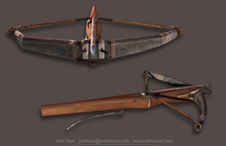 Ship Wireframe View of crossbow